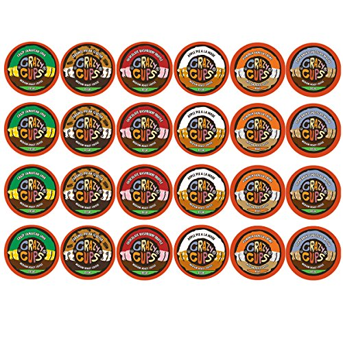 Crazy Cups Decaf Flavor State's Selection Single Serve Cups For Keurig K Cup Brewer Variety Pack, 24 Count
