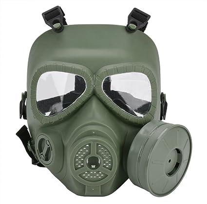 Funpa Airsoft Máscara Facial Completa M04 Durable Anti Niebla Exterior Protectora Paintball Máscara con Ventilador