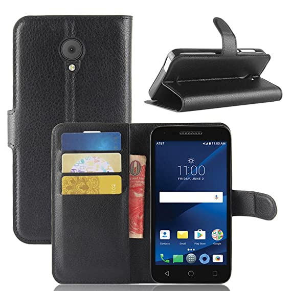 half off 5d777 c5d6f Alcatel Raven LTE A574BL/IdealXCITE/Verso/CameoX 5044R Case, Alcatel U50  5044S Case, Luxury PU Leather Magnetic Wallet Flip Stand Protective ...