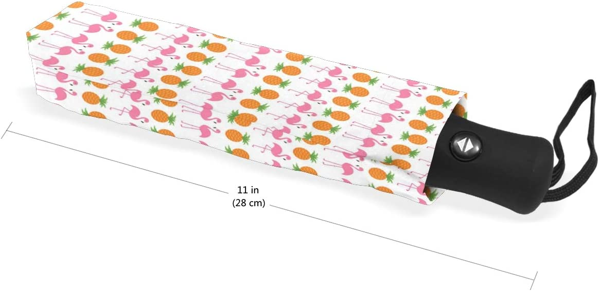 Gold Pineapple Unicorn fashion print cute Windproof automatic tri-fold umbrella sun UV protection Sun umbrella