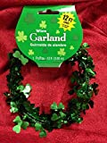 Amscan Lucky Irish Saint Patricks Day Shamrocks Wire Garland Party Decoration, 12, Green