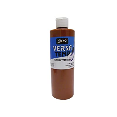 Sax Versatemp Heavy-Bodied Tempera Paint, Brown, 1 Pint: Industrial & Scientific