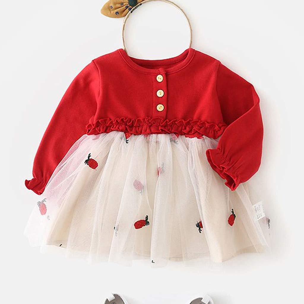 Vestido Primavera Niña, LANSKIRT Bebé Pequeños Niñas Otoño Vestido de Tul Floral Princesa Informal Ropa de Trajes: Amazon.es: Ropa y accesorios