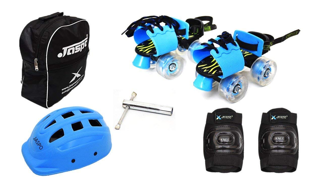 Jaspo Kinder Ride Eco Junior Adjustable Roller Skates Combo Suitable for Age Group Upto 5 Years