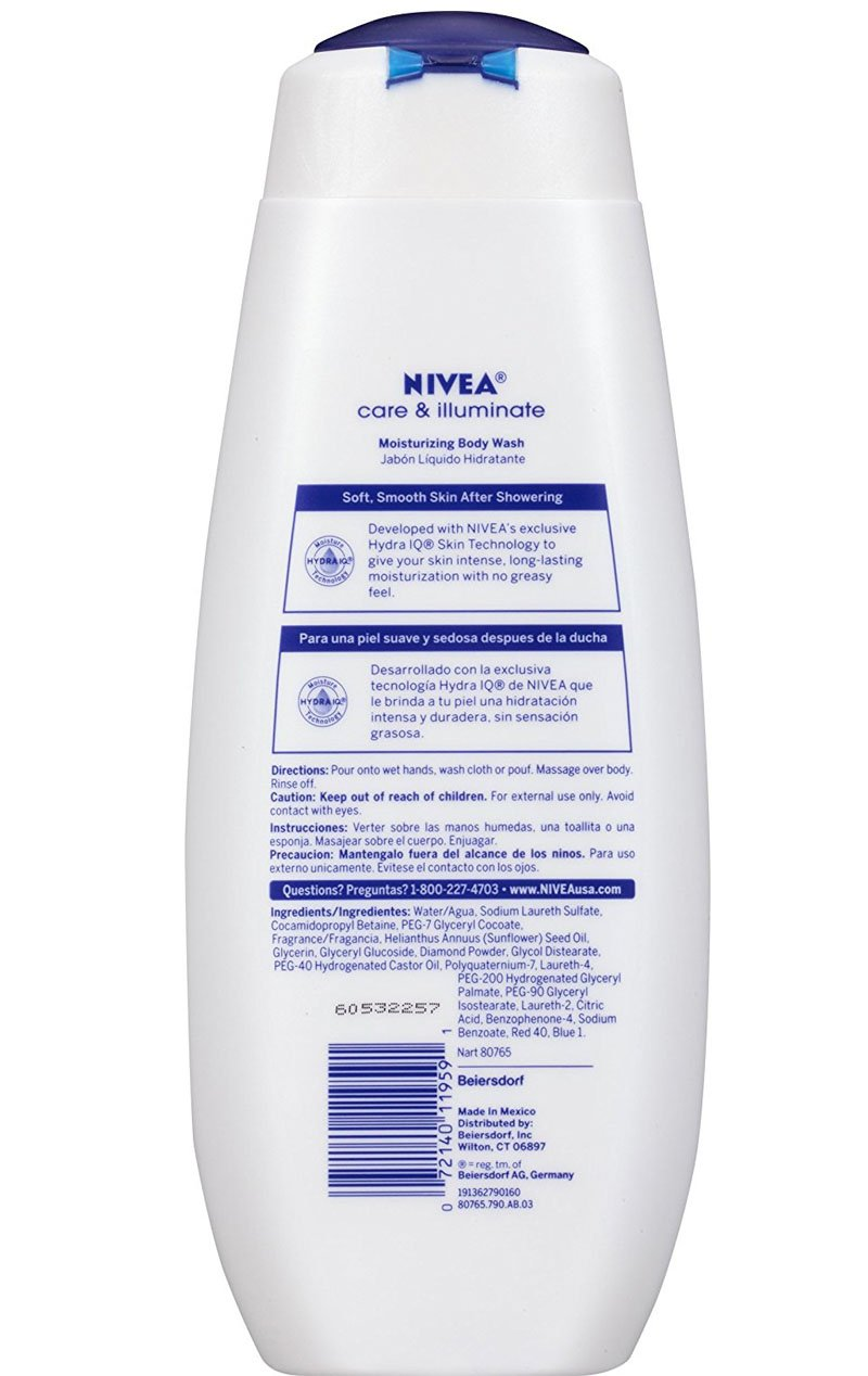 Amazon.com : Bundle of Nivea Care & Illuminate Body Wash, Shea Butter Lotion & Shimmer Lip Care (3 items) (Shea Butter) : Beauty