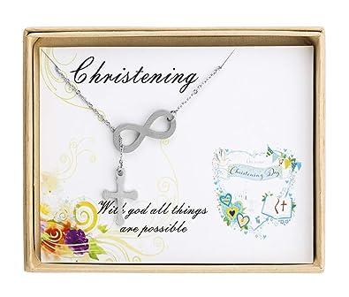 amazon com sunique infinity cross necklace y necklace religious