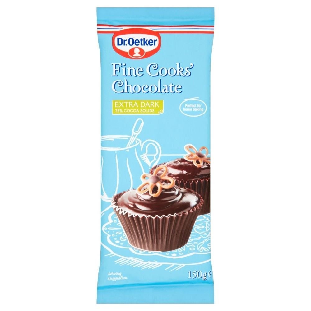 Dr. Oetker Fine Cooks†Extra Dark Chocolate (150g) - Pack of 2