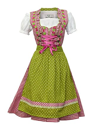 Dirndl Trachtenkleid Damen Lisa 3.TLG Set Bluse und SCH/ÜRZE
