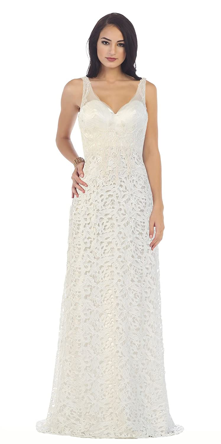 Royal Queen RQ7470 Wedding Destination Lace Dress at Amazon Womens Clothing store: