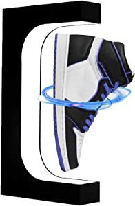 SKONHED LED Magnetic Levitation Shoes Display Stand,360 Degree Rotating Floating Sneaker Stand of Holding Different Weight, for Product Display,Home Decorate,Sneaker Collectors,Advertising Exhibition
