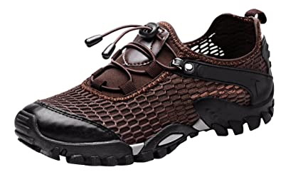 Men's Mesh Hiking Shoes Water Shoes Breathable Outdoor Sneakers Walking Shoe