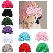 WZT 10 Pcs Newborn Elastic Sretch Head Wrap Infant Turban Toddler Baby Girl Knot Headbands