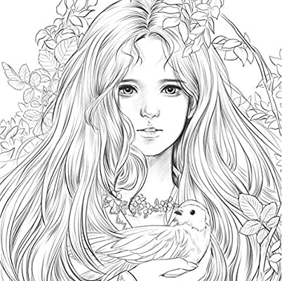 Amazon.com: Momo Girl Girls With Music Coloring Book New Version Of Color  Healing Book, Color Drawing 104 Pages Of Lovely Girls Colouring Book Vol.2,  680g Extra-Thick Paper, Available Watercolors: Toys & Games