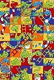 Crocks & Snakes Number Kids Educational 5 X 7 Gel Rug