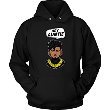 e563ffb8 Amazon.com: Hey Auntie - Black Panther Funny Meme Hoodie: Clothing