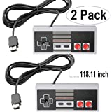 NES Classic Controller with 10FT Cable [2-Pack] for NES Classic Edition Mini,SNES Classic 2017 - Wired Joypad/Gamepad…