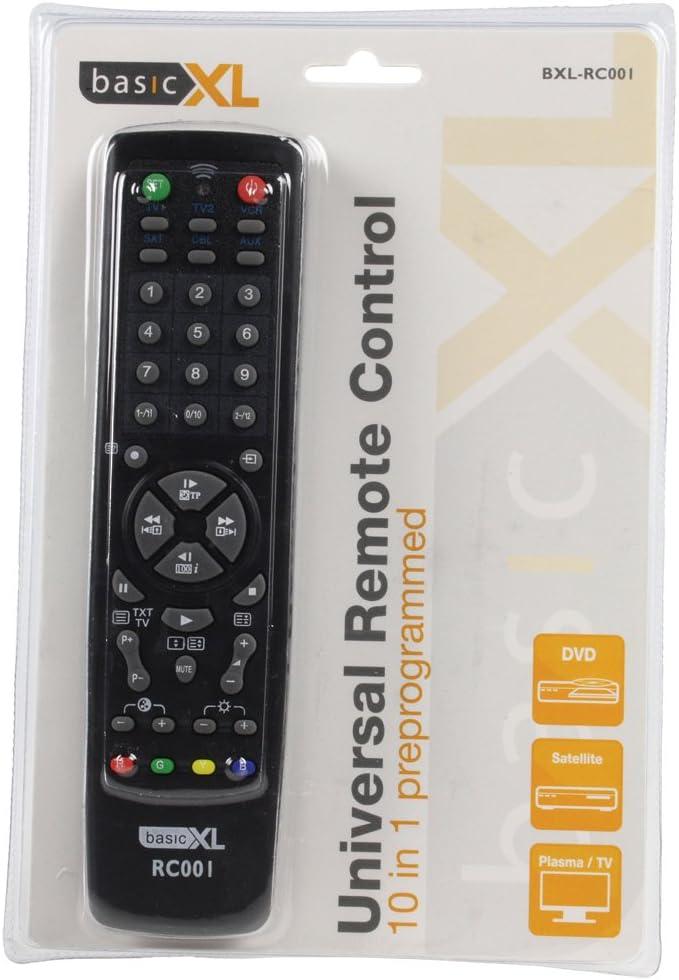 basicXL BXL-RC001 - Mando a distancia para televisor, negro ...