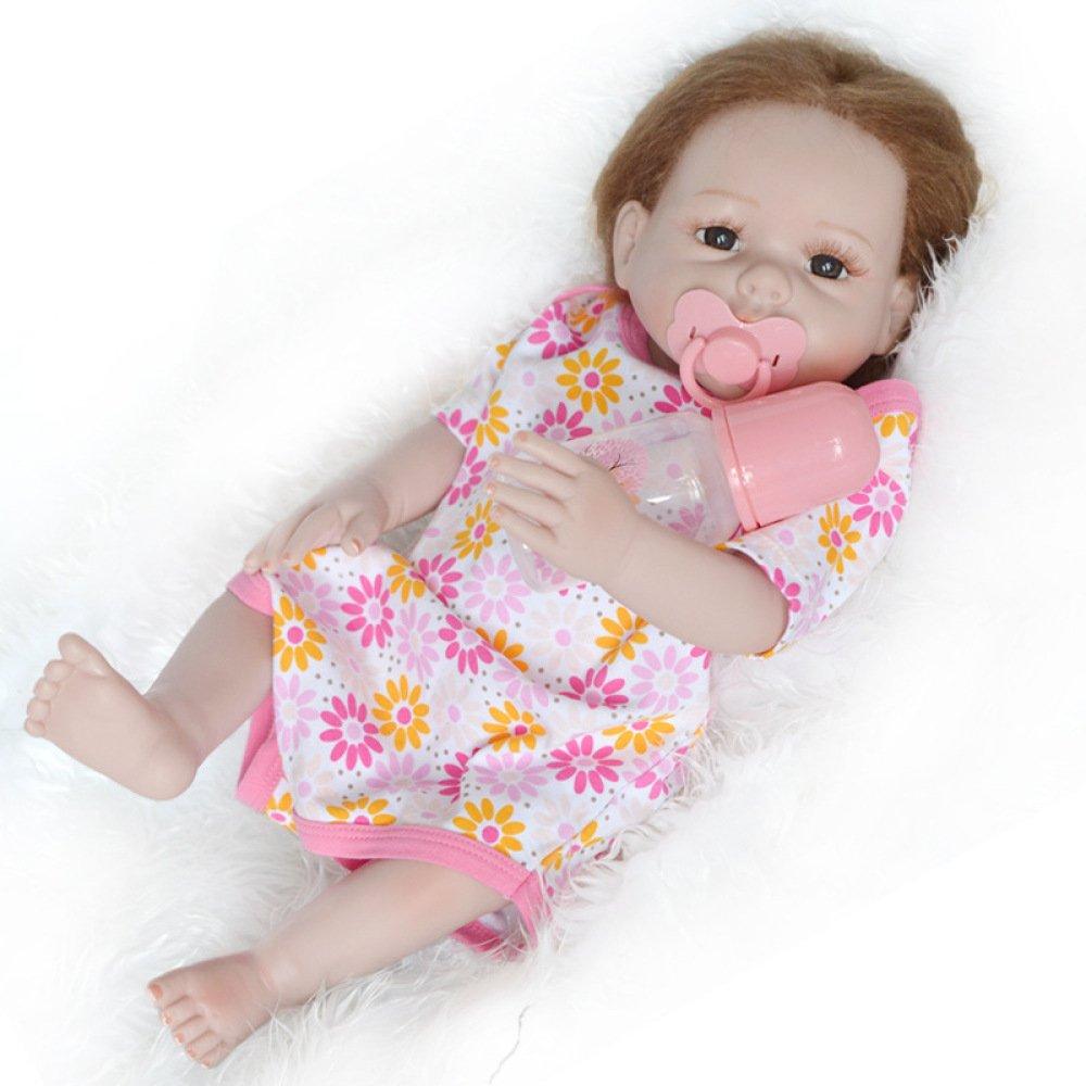 Nurturing Dolls Muñeca Recién Nacida Bebé 50-55cm Calidad Realista Hechas A Mano Vinilo Suave como Regalo O Juguete Ropa Rosa