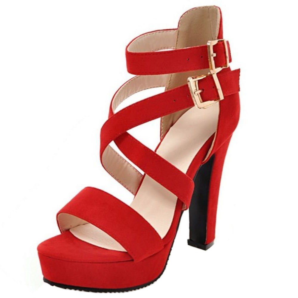 Zanpa Women Fashion Heels Sandals / Big Sizes B07DCTGNY5 12 US / 45 EU / Sandals 28.5 CM|Red 3c5a94