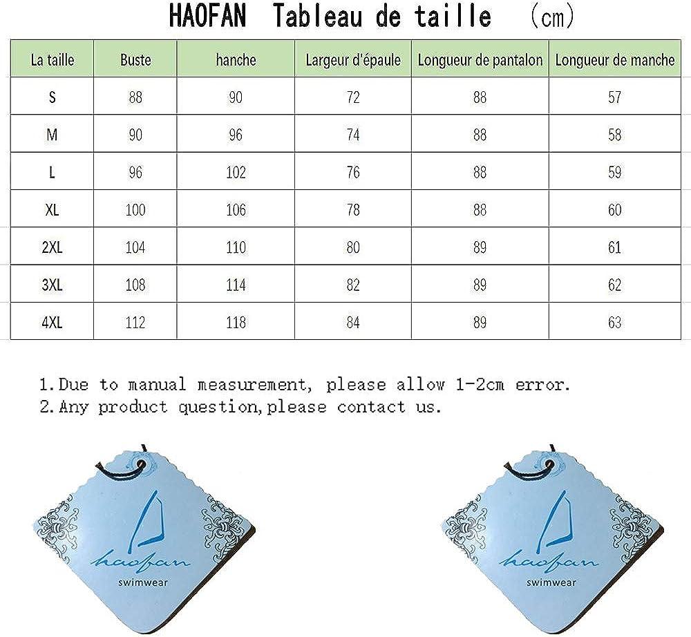 HaoFan Musulman Modeste Maillots de Bain Bathing Suit Burkini Beachwear avec Hijab pour Femmes