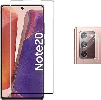 Image ofPkila Protector de Pantalla Samsung Galaxy Note 20 Cristal Templado+ Cámara Protector [9H Dureza][Alta Definición] Vidrio Templado para Samsung Galaxy Note 20