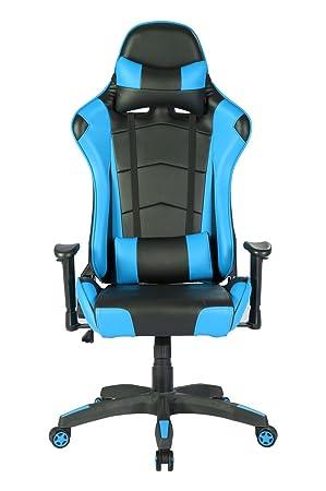 Lombairebleu Avec Support 135˚ GamerRacing Gaming Iwmh Sport Têtière Baquet Siège Bureau Assise Chaise Inclinable De Fauteuil wXiTOkPlZu