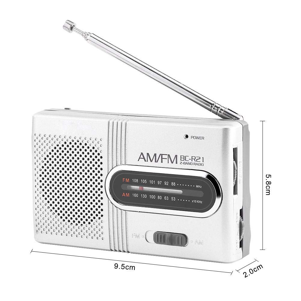 Universal Portable AM//FM Mini Radio Stereo Speakers Receiver Music Player Radio Adapter Radio AM//FM Radio