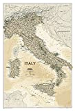 National Geographic: Italy Executive Wall Map (23.25 x 34.25 inches) (National Geographic Reference Map)