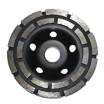 5 Piece 4-1//2 Inch 115mm Diamond Double Row Grind Cup Wheel concrete travertine