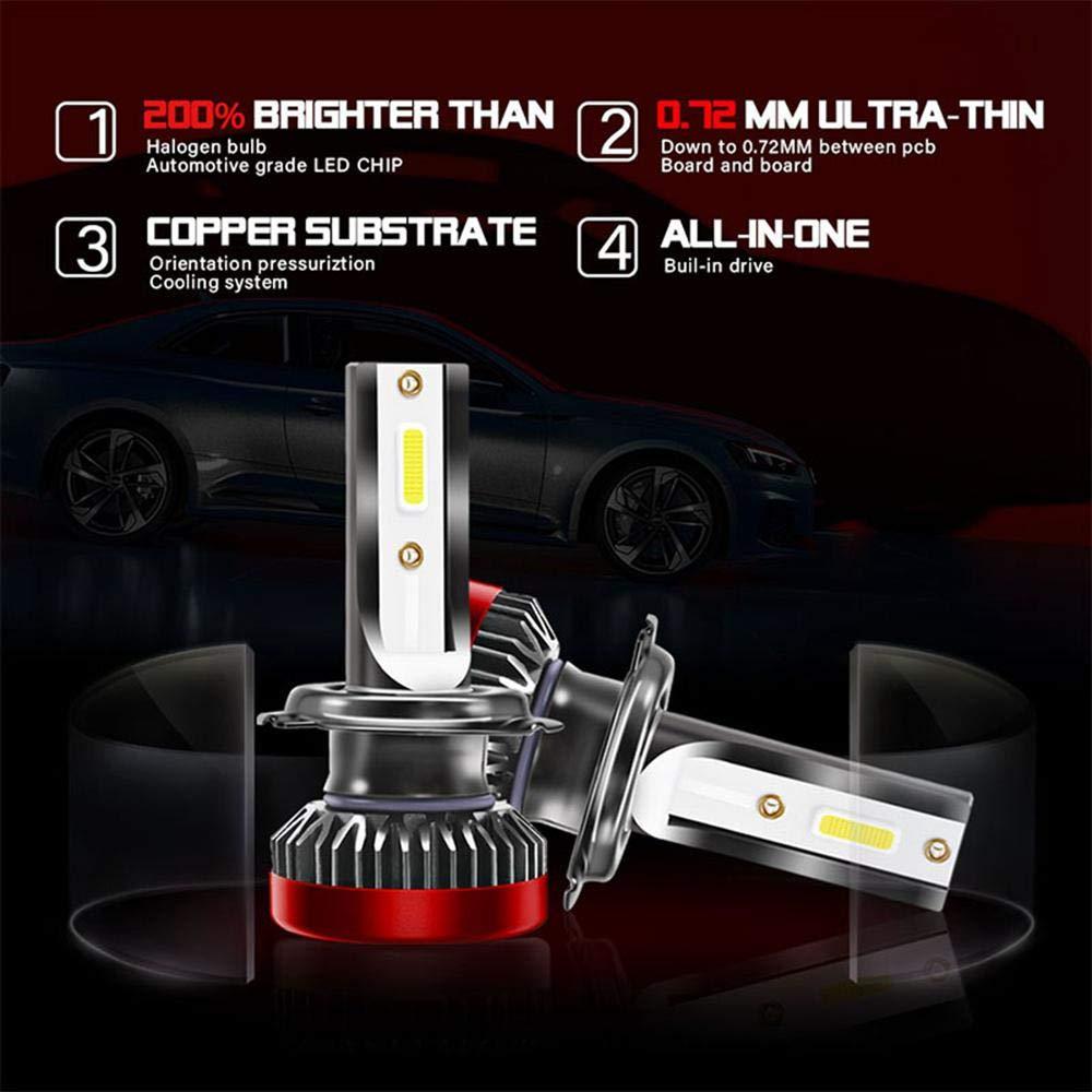 2pcs 9005//HB3 LED ampoules de phare remplacer pour les lumi/ères halog/ènes//HID ampoules lampe /étanche 8000Lm 6000K lampe d/'automobile extr/êmement lumineux avec COB chips pour voiture blanc froid
