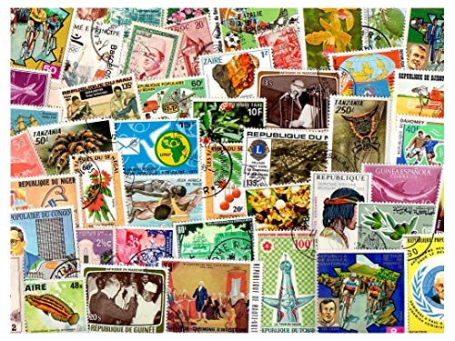 Africa African Continent : 500 Different Stamps Collection Mixture Packet Stamps for Collectors