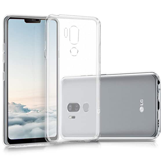 kwmobile Crystal Case for LG G7 ThinQ/Fit/One - Soft Flexible TPU Silicone Protective Cover - Transparent