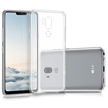 kwmobile Funda para LG G7 ThinQ/Fit/One - Carcasa Protectora de TPU para móvil - Cover Trasero en Transparente