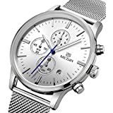 Relojes de Hombre Moda 2018 Stainless Steel Mesh Band Waterproof Business Dress Watch Hour for Man