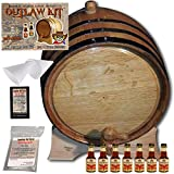 Outlaw Kit From American Oak Barrel - Make Your Own Mark's Kentucky Bourbon (Natural Oak With Black Hoops, 5 Liter)