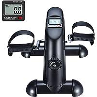 FITODO Pedales Estaticos Ejercicio de Mini Bicicleta con Monitor LCD para Pierna y el Brazo de Rehabilitación