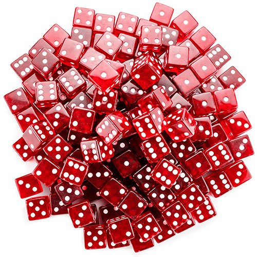Brybelly 100 Count 19mm Dice - Red -
