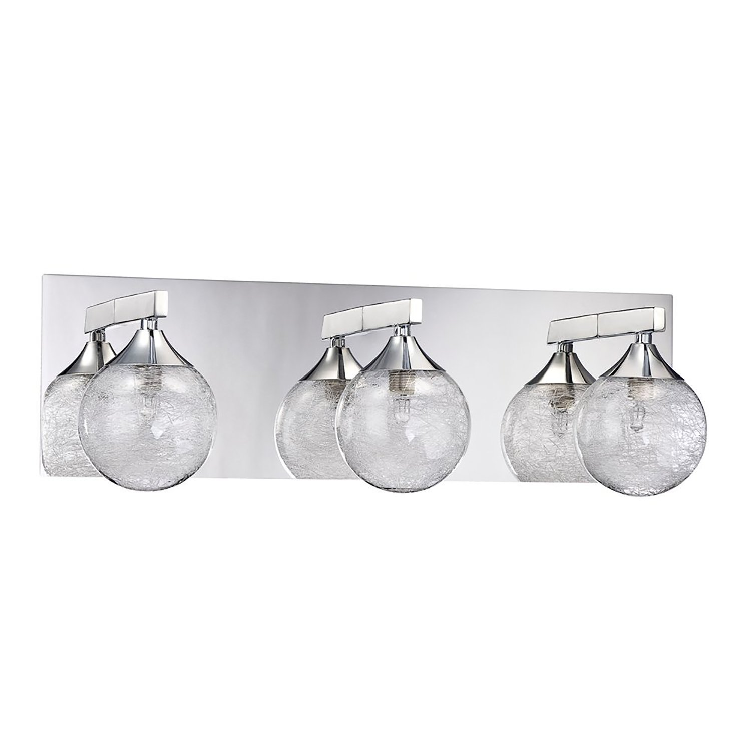 kendal lighting vf4100 3l ch fybra 3 light vanity fixture chrome