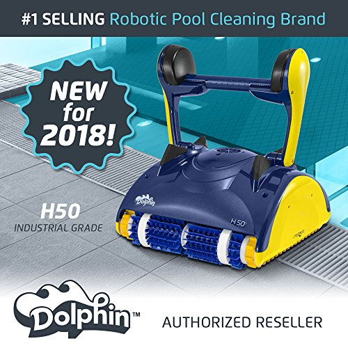 (Dolphin H50 Industrial Grade Robotic Pool Cleaner Ideal for Commercial Pools Up to 50 Feet)