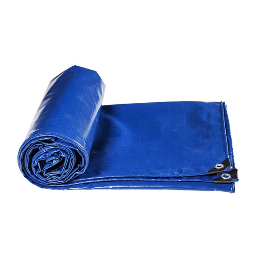 YUJIE Toile Bleue Parasol De Prougeection Solaire Famille BÂche Jardin Camping en Plein Air, épaisseur 0,45 Mm, 530 G   M2, 11 Options De Taille  36