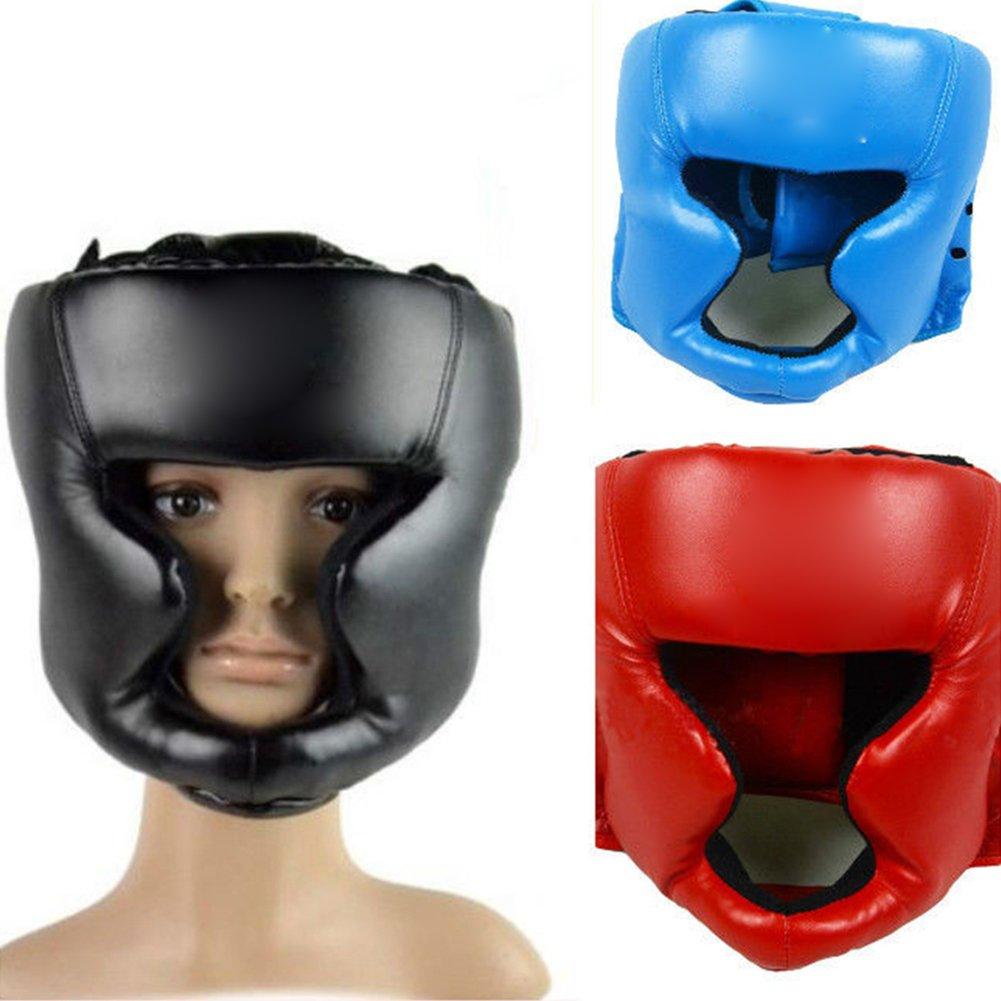 WFZ17/Casque de Boxe Simili Cuir MMA Headgear UFC Combat Casque de Protection Casque de Sparring