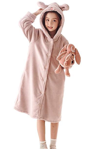 HAHABABY Albornoz Adecuada para Niñas Niños Pijamas Sudaderas Algodón 100% Manga Larga Albornoz De Baño Toalla Playa Disponible en Varias Tallas: Amazon.es: ...
