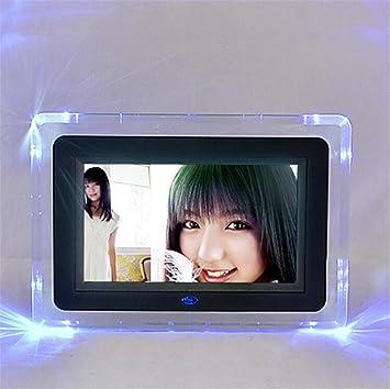 L&R Marcos digitales Marco de fotos digital 7 pulgadas de alta resolución con pantalla grande de