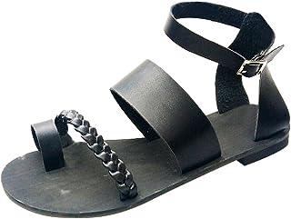 Femme Chaussures,Boucle de la Mode féminine extérieure Plate Style Sandales Sandales de Plage de Style Romain,Chaussures de Travail