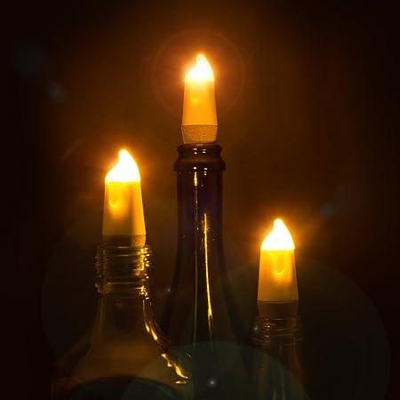 UK Candle Bottle Light on
