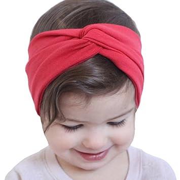 Tonsee® Bébé Enfant Filles Hairband bandeau de cheveux Accessoires Toddler  Head Wrap (Rouge) da8cd266102