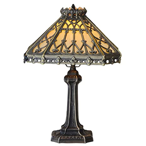 DECORATZ Vintage Antique Tiffany Style Table Lamp 14 inches