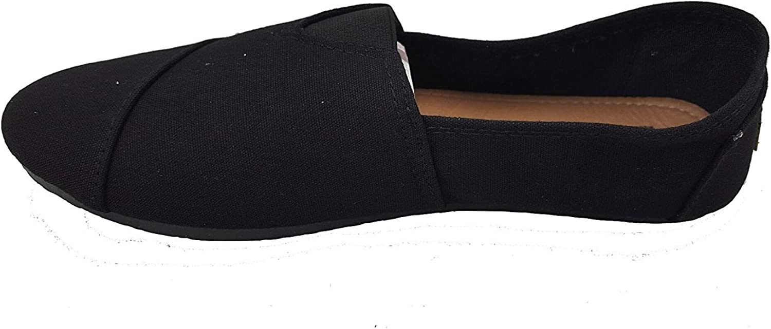 Anig Womens Canvas Slip On Shoes Flats
