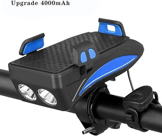 4 Función USB Recargable Bici Delantero Juego De Luces, Soporte ...