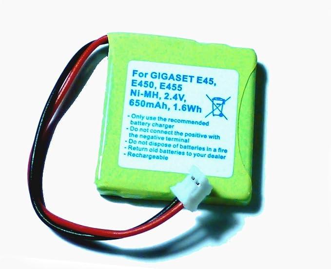 Battery for Siemens Gigaset E45, E450, E455, V30145-K1310-X382, 650 ...